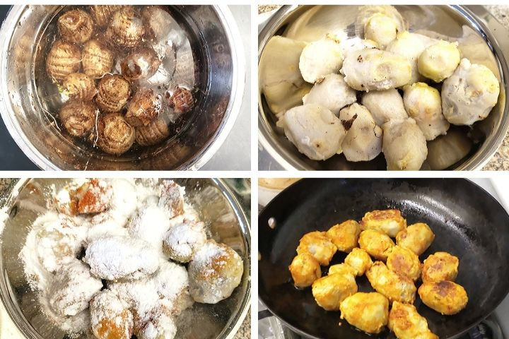 taro root instant pot|arbi recipe|seppankizhangu roast