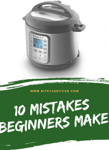 10 mistakes beginners make - instant pot