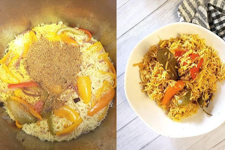 instant pot bell pepper rice capsicum rice