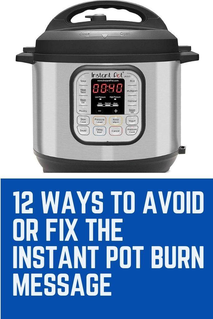 instant pot burn notice