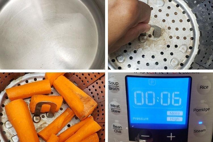 steam carrots instant pot
